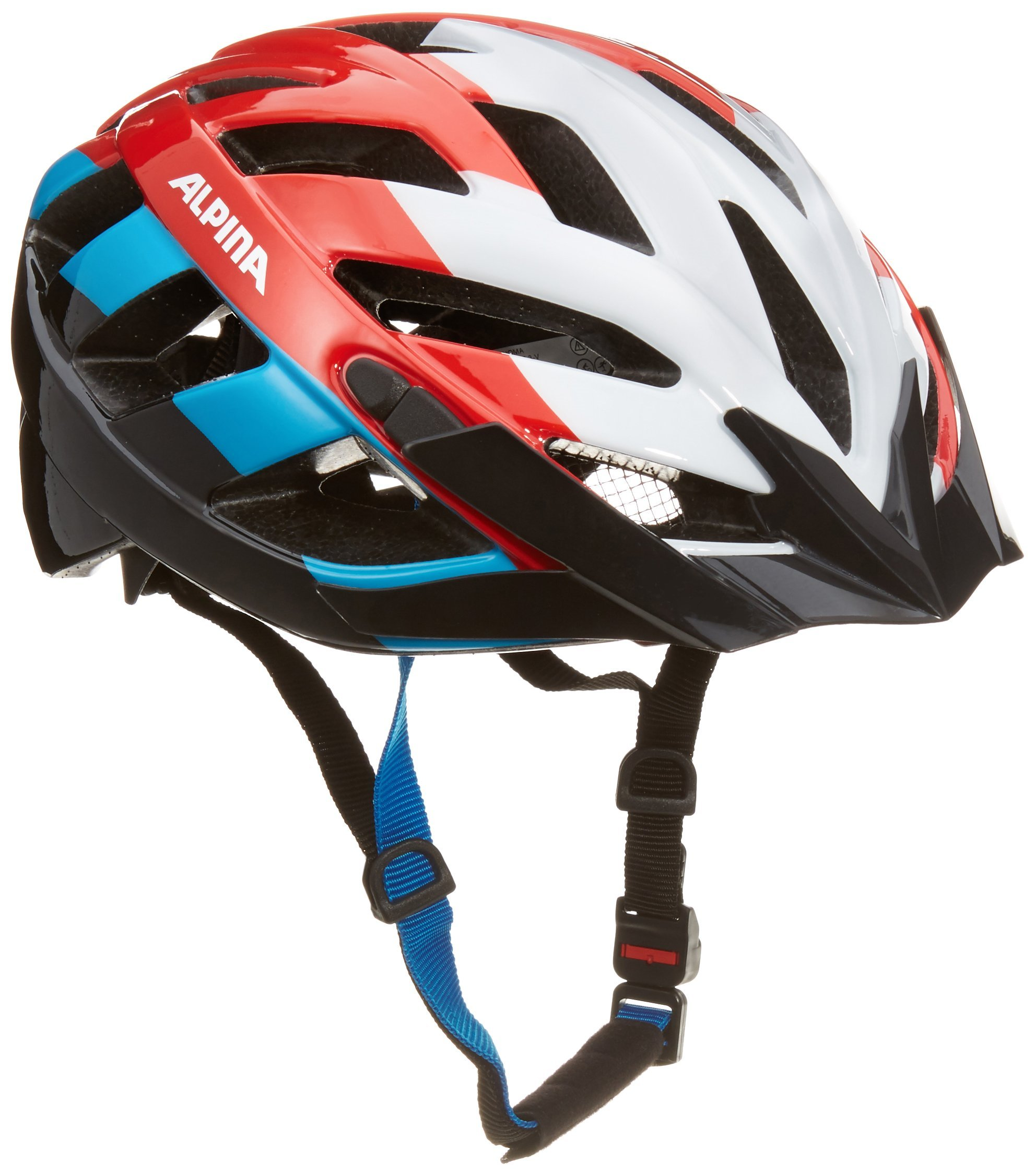 ALPINA PANOMA RED BLUE - kask rowerowy R. 56-59 <is>