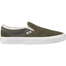 BUTY VANS CLASSIC SLIP ON SUEDE/SHERPA GRAPE LEAF/DUSTY OLIVE ROZMIAR 42/27CM