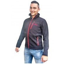 MĘSKA KURTKA BLACK CANYON SOFTSHELL MEN JACKET BLACK/RED ROZMIAR S