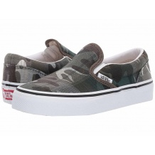 NOWE BUTY VANS CLASSIC SLIP ON PLAID CAMO GRAPE LEAF/TRUE WHITE ROZMIAR 30,5/18CM