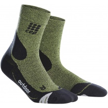 SKARPETY CEP DYNAMIC+ OUTDOOR MERINO MID CUT SOCKS WMN GREEN ROZMIAR II